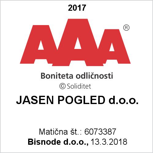 Boniteta odličnosti - Tudi letos smo prejemnik CERTIFIKATA ODLIČNOSTI - ki potrjuje uvrščenost v skupino podjetij z najvišjo bonitetno oceno v Sloveniji.Zanesljiv in natančen računovodski servis, ki se maksimalno posveti svojim strankam.