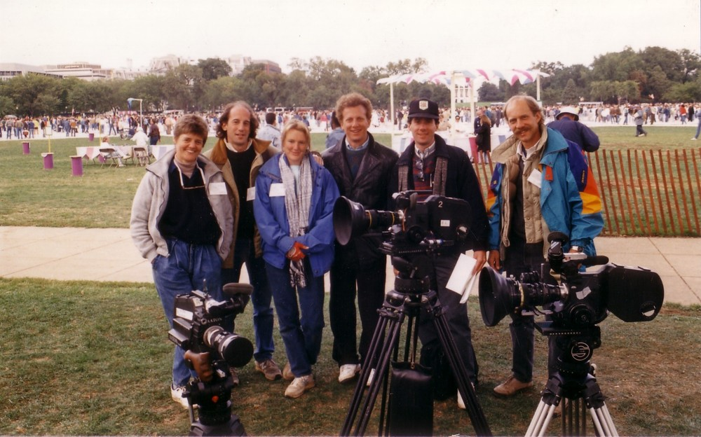 9.  The camera crew for the Quilt Unfolding (L-R) Frances Re.jpg