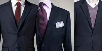 Navy suit 3 ways