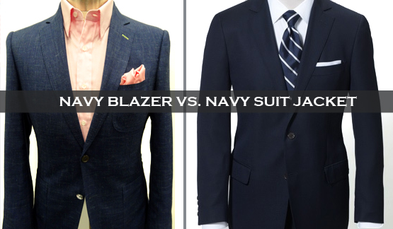 Blazer vs navy suit jacket
