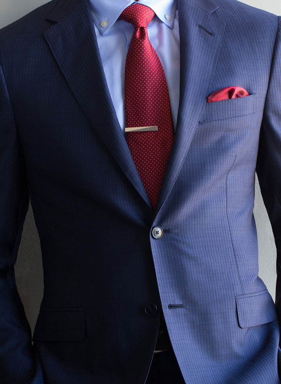 Navy-Self-Stripe-Custom-Tailored-Suit-Red-Polka-dot-tie-tie-bar-red-pocket-square-900.jpg
