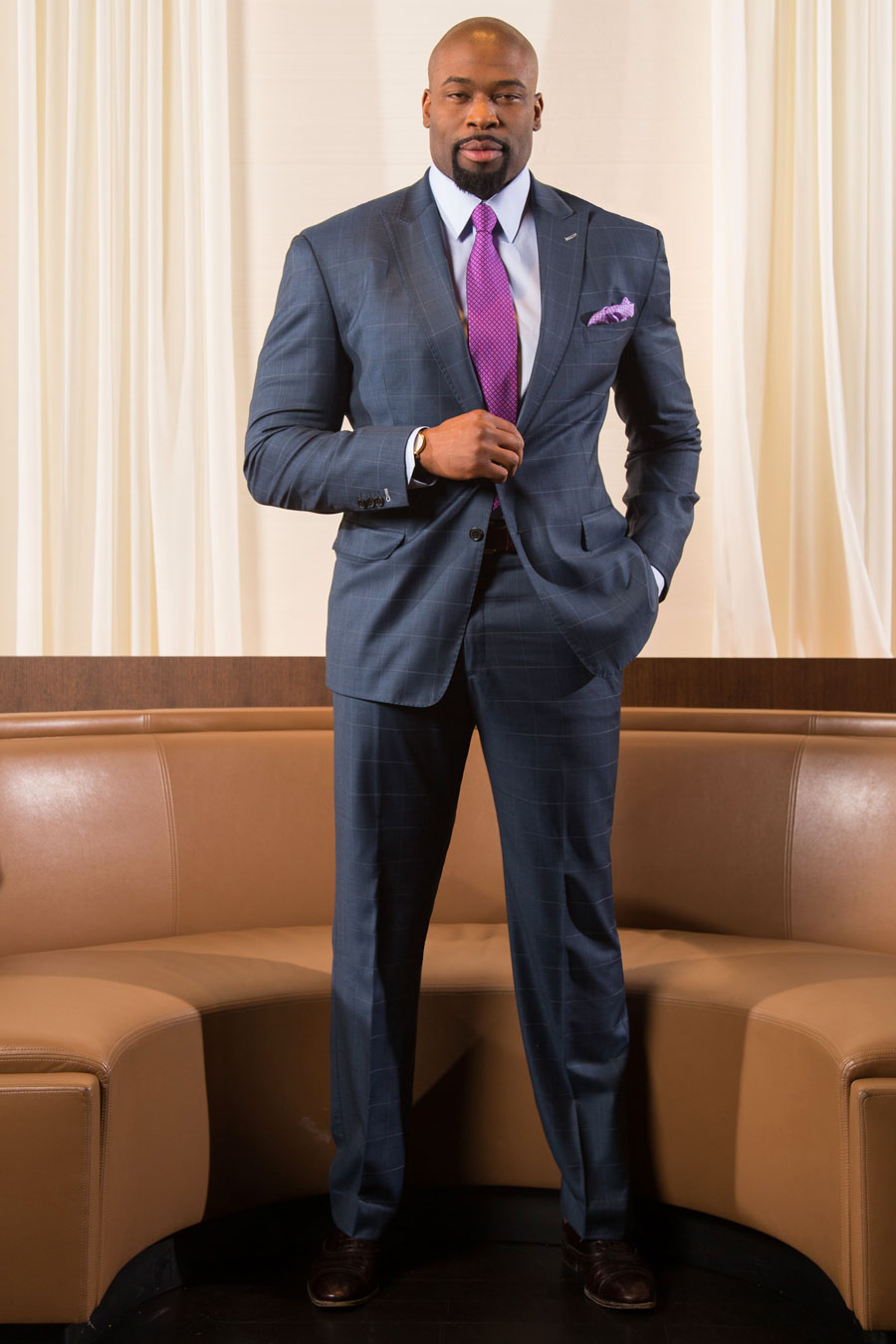 Blue-Slate-Custom-Windowpane-Suit-Slacks-Tailored-By-Balani-Pink-Tie-Purple-Pocket-Square-White-Drapes-Chicago-900.jpg