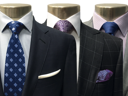 Purchase 3 custom suits - get 5 complimentary custom shirts