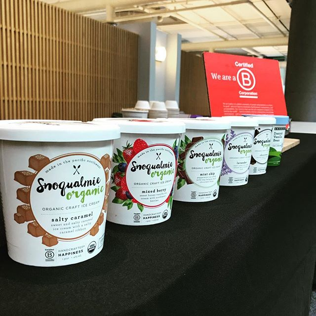 We are at the @portofseattle with Green Drinks tonight handing out Organic Snoqualmie Ice Cream. Sustainable living is one of our core values so stop by our rain garden at our Scoop Shop in Maltby to see how we are doing are part.
