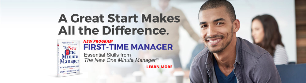Becoming a first-time manager is one of the most challenging and overwhelming career transitions an individual can face.  Research shows that less than 10 percent of managers were prepared for a leadership role. Promoting a high-performer without the proper management skills can have serious consequences for both the individual and the organization.  Based on the #1 best seller, The New One Minute Manager, the First-time Manager training program introduces core competencies and skills first-time managers require to achieve success quickly and build positive relationships with their teams.