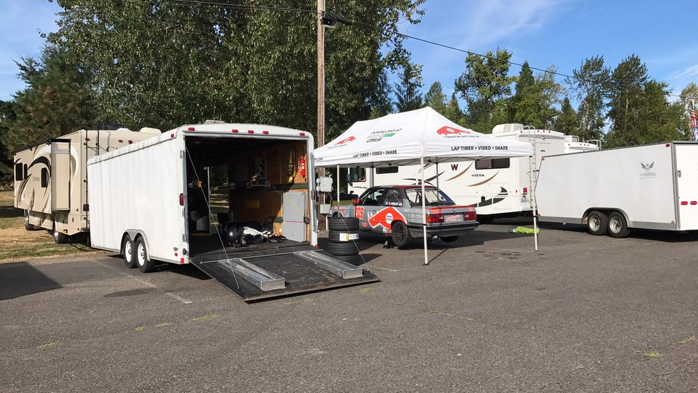 Our setup at Portland International Raceways