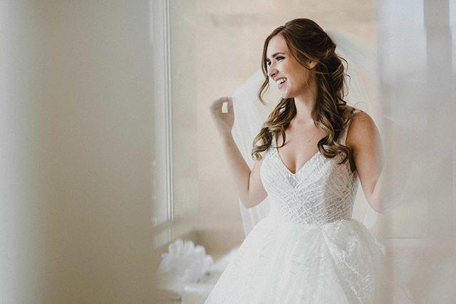 Wedding ready 🖤💍 📷 @erinwallisphotography  Stunning gown @lazarobridal  Beauty @artistrybyalexa & myself.