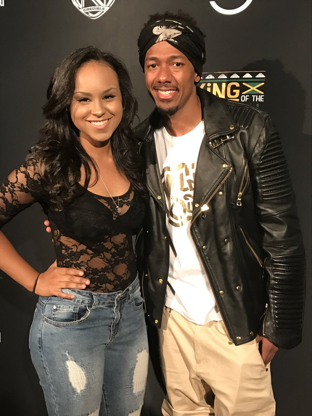 """Nick Cannon & Natalie Nichole -- """"King of The Dance Hall"""" Red Carpet."""