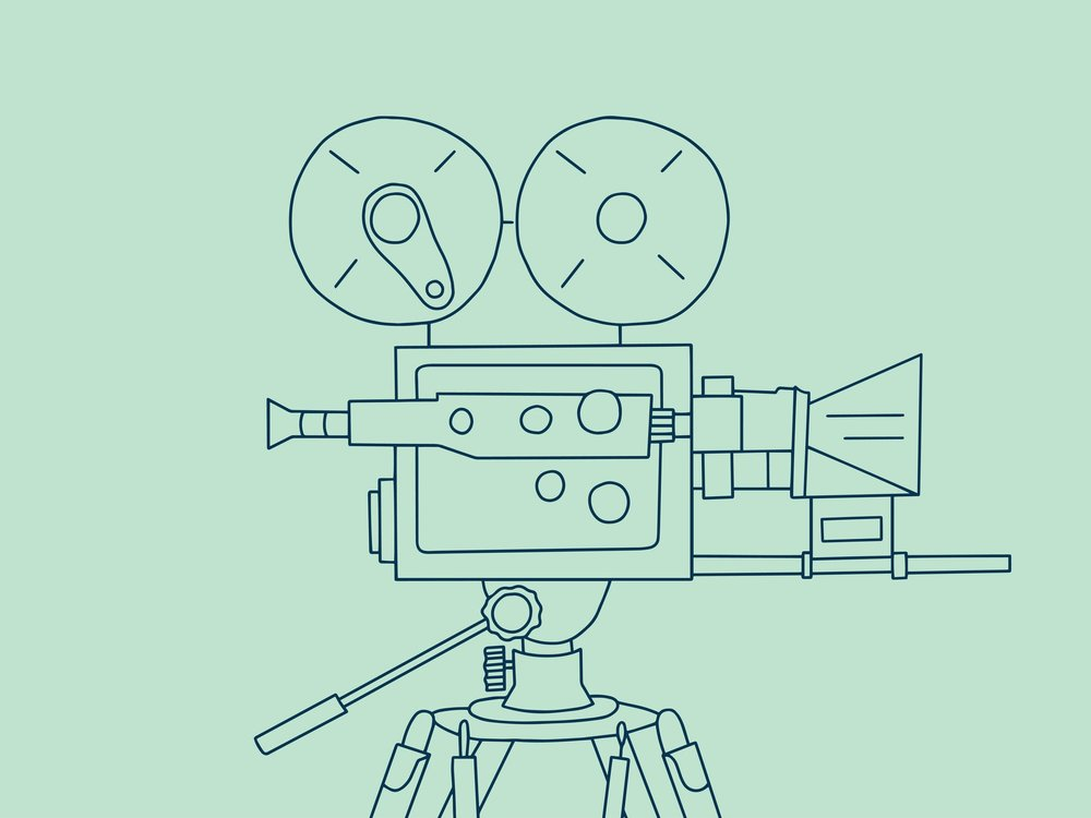 Banner Day Films | Marketing videos... with heart. | video camera illustration