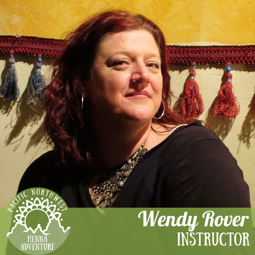 Wendy Rover - @rovinghorsehennaWendy Rover has been working with henna for 25 years and is the owner and principal artist at Roving Horse Henna. She is known for her pioneering work in western fusion design and henna focused editorial and concept photography. For Wendy, participating in the connection that henna forges between plant and person, past and present, between cultures, between one another, is the highlight of her work. It is a great honor for her to adorn her clients as they celebrate joy and special moments in their lives with henna.