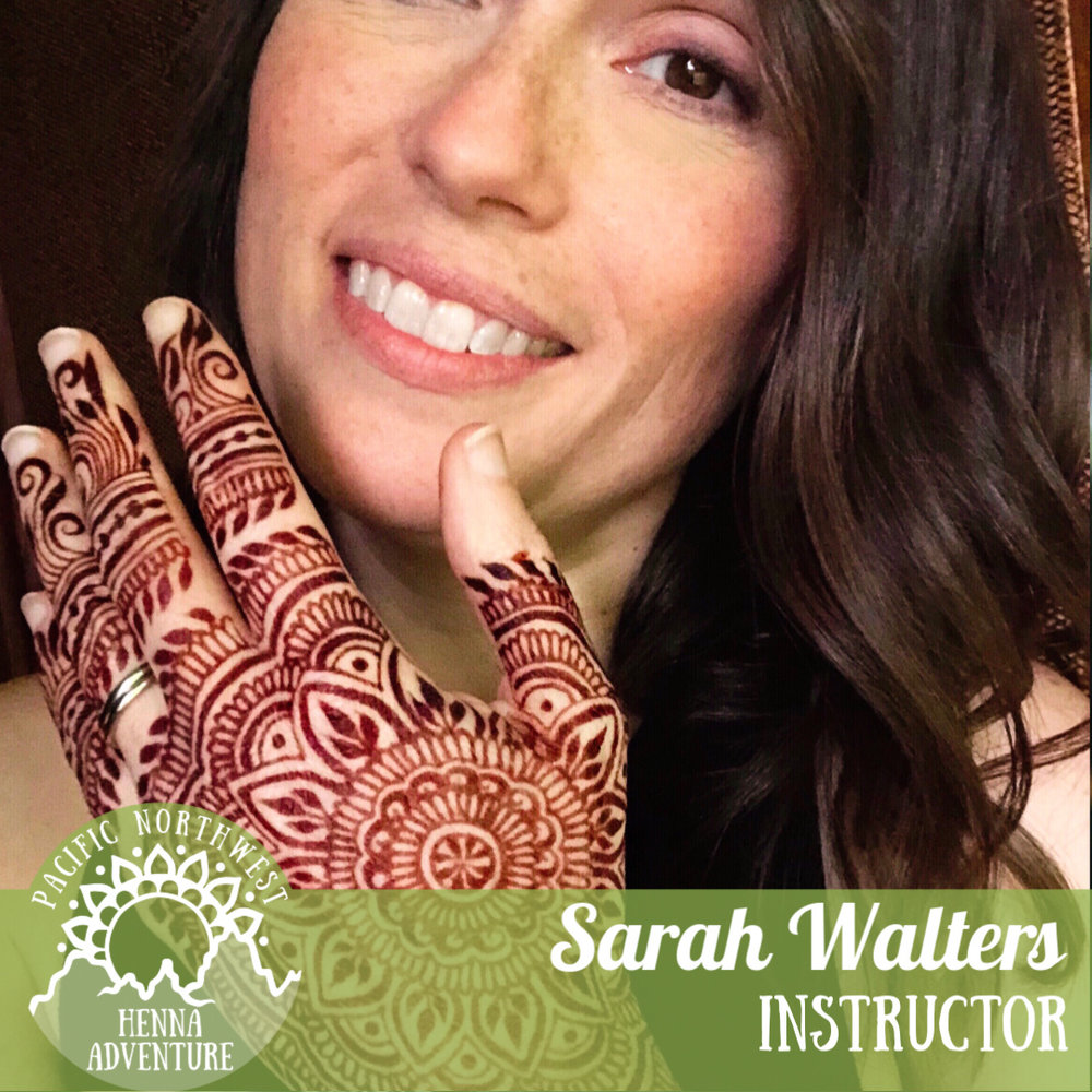 Sarah Walters - @SarahennaseattleSarah Walters is an internationally respected artist known for her elegant, precise lines and eye for symmetry. Her work with henna crowns has attracted quite a bit of media attention, with two viral videos including a BBC video that received over 24 million views. She has been so grateful for the opportunity to serve her community by doing exactly what she loves. Over the years, Sarah has recruited many of her family members into her business. Her husband handles most of the retail orders, while her brother, sisters and daughters do henna at events or run the front of the festival booth! A self-proclaimed data & tech nerd, she loves the business side of her henna venture and feels blessed that it henna has brought together so many of her passions into one.