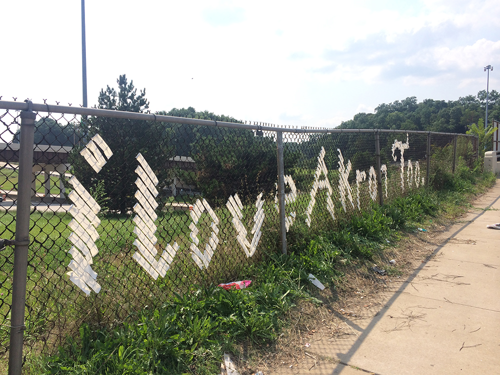 Akron, Ohio // I Love Akron Too. fence installation