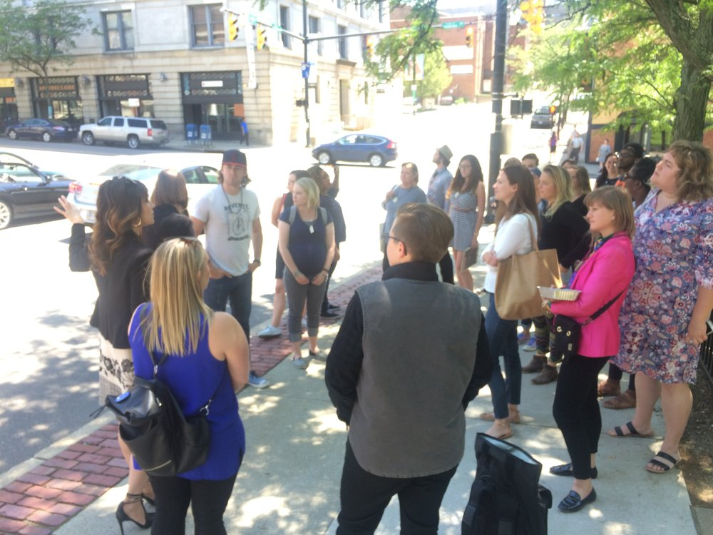Study tour of Downtown Akron with Downtown Akron Partnership