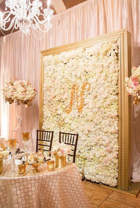 LIGHT PINK AND BEIGE ROSE FLOWER WALL - 5' X 7' - $599