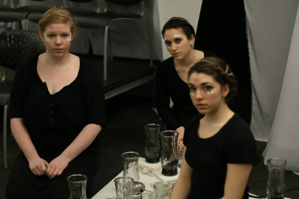 """   Elektra/Electra   ""  Emerson College Shakespeare Society 2014 ( Greek Chorus )"