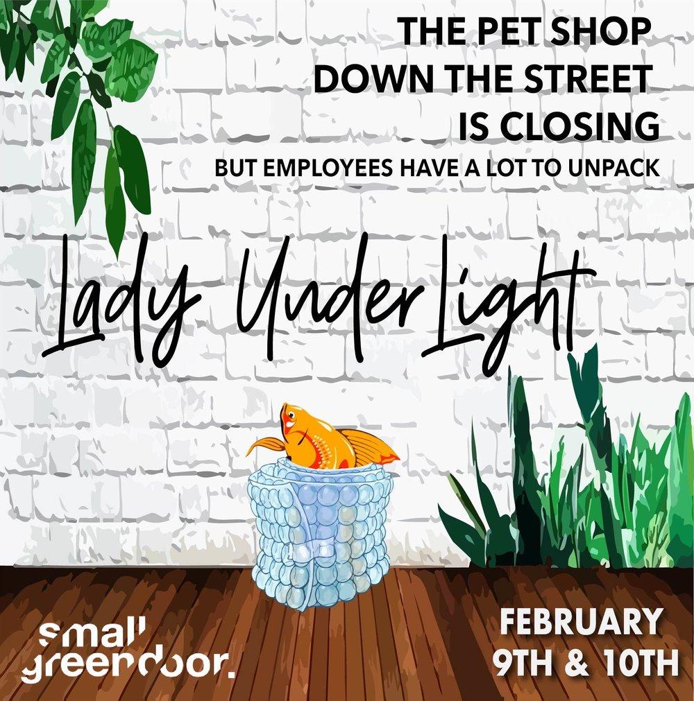 Poster Design - Original play: Lady Under Light