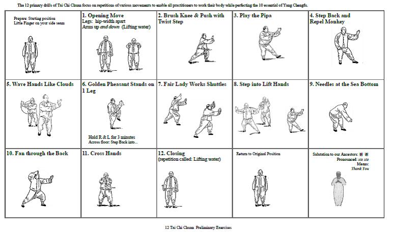 12 Tai Chi Chuan Preliminary Drills