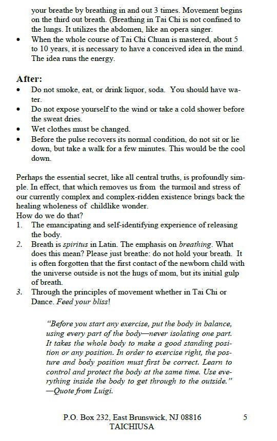 Tai Chi Chuan 13 Form