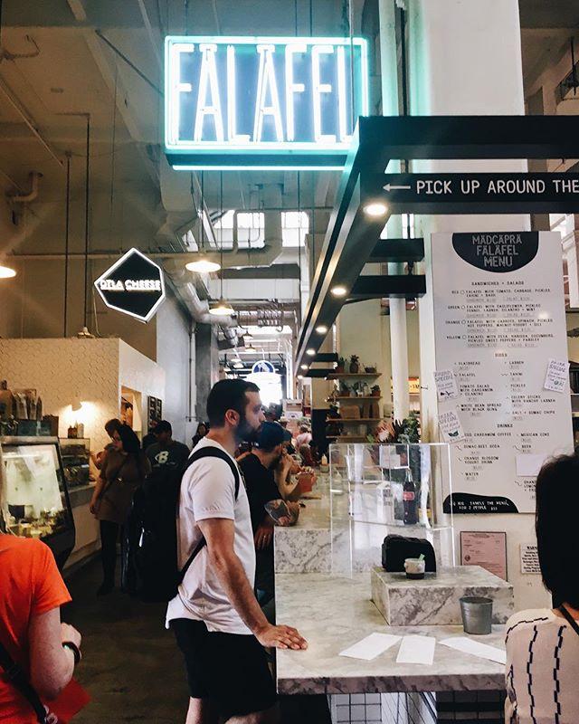 Falafel pit stop in LA 🌴