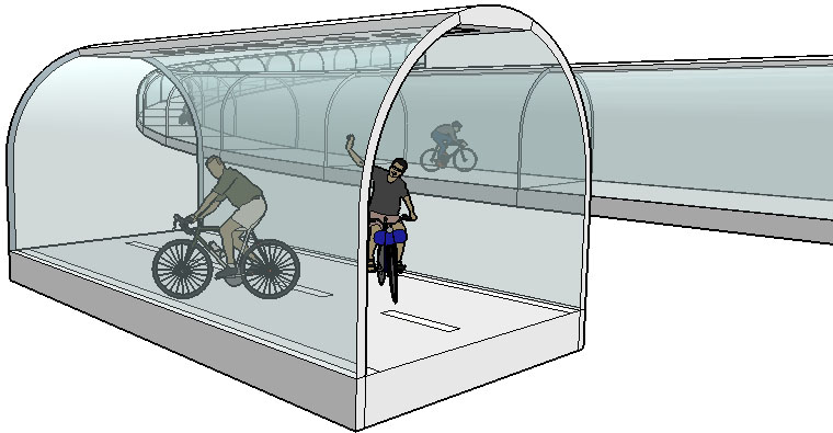 SketchUp model for Transport project