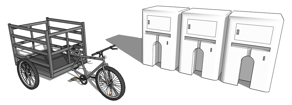 SketchUp model for initial concept Transport Project