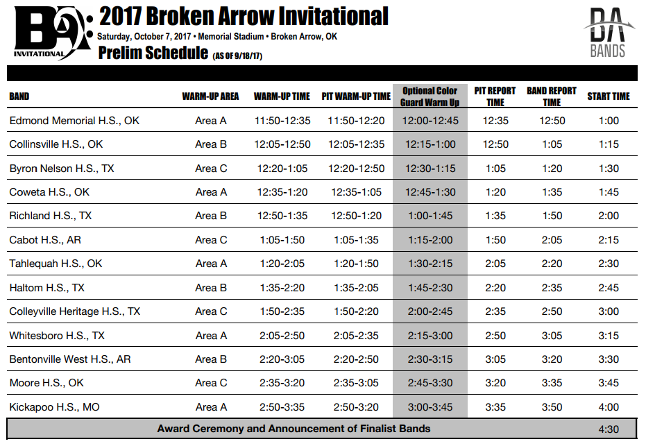 Broken Arrow Prelim Schedule.png