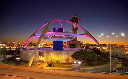 LAX Theme building in Los Angeles