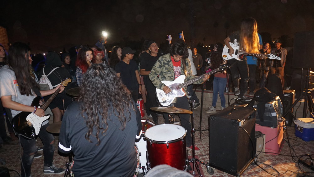 Beach Bums play for a crowd in Riverside Calif. Aug. 28. Photo by Charlie Vargas.