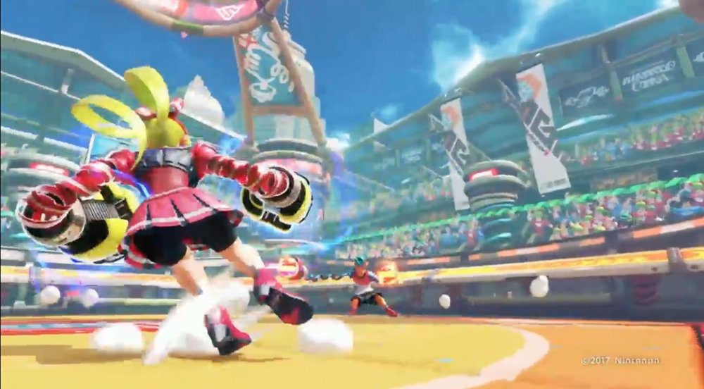 Arms, developed by Nintendo