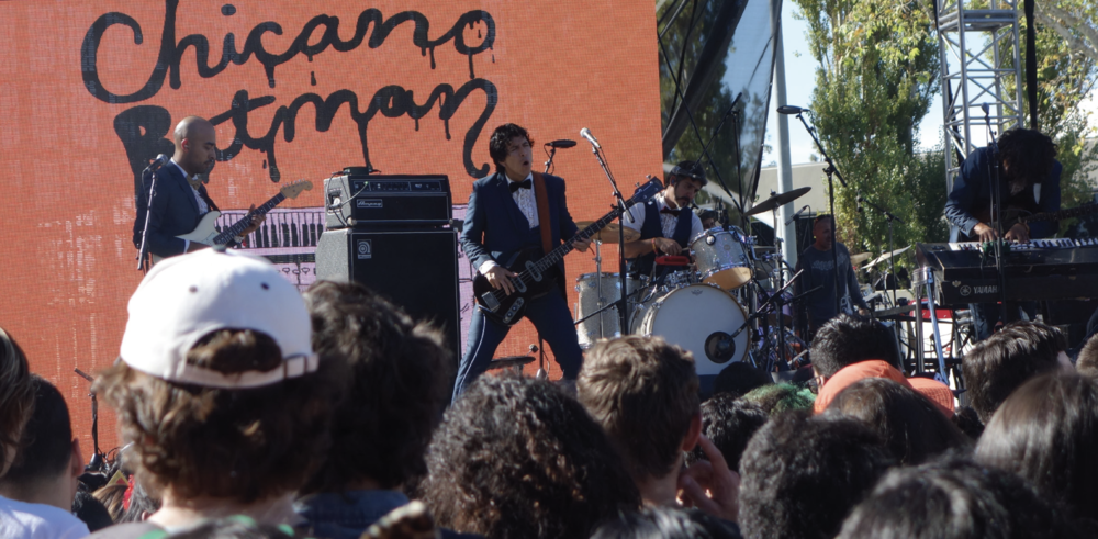 Chicano Batman playing for a full crowd at Beach Goth Oct. 22 2016. Photo by Charlie Vargas.