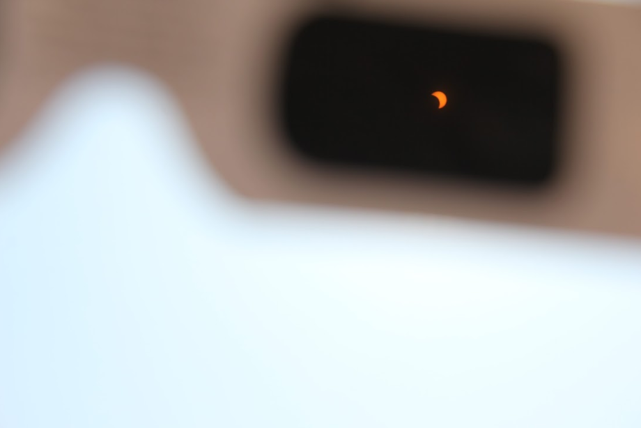 The partial solar eclipse from the first person point of view. Photo by Jullian Aiden Bravo
