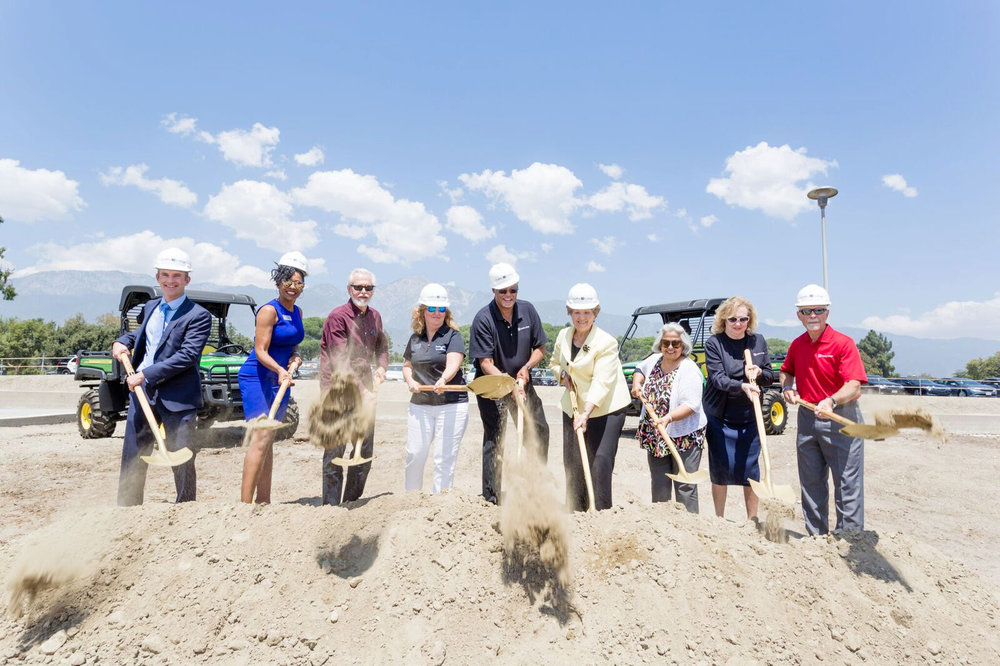 Chaffey's Board breaks first ground on the Solar Project. Photo by Duane Tkatch.