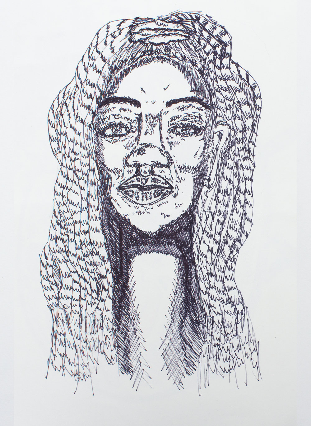 """Woman"", ink on paper."