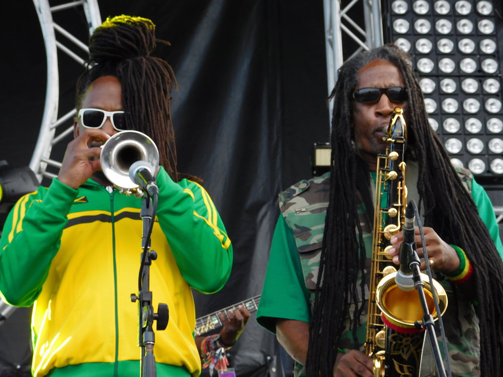 Stephen Bradley and Jerry Johnson of Steel Pulse