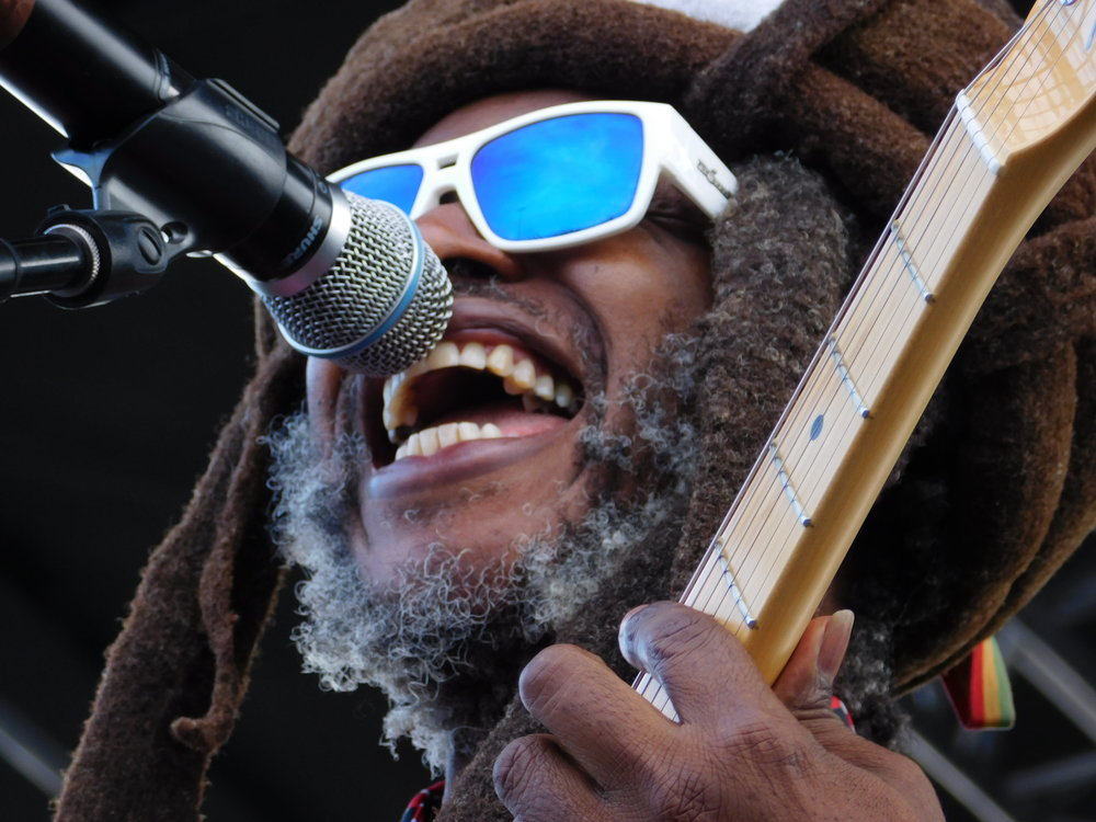 Singer David Hinds of Steel Pulse