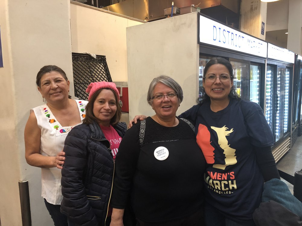 Sandra Aparicio, Reina Castillo(mom), Concepcion Menjivar, and Ruth Monico. Photo by Hector Solorzano