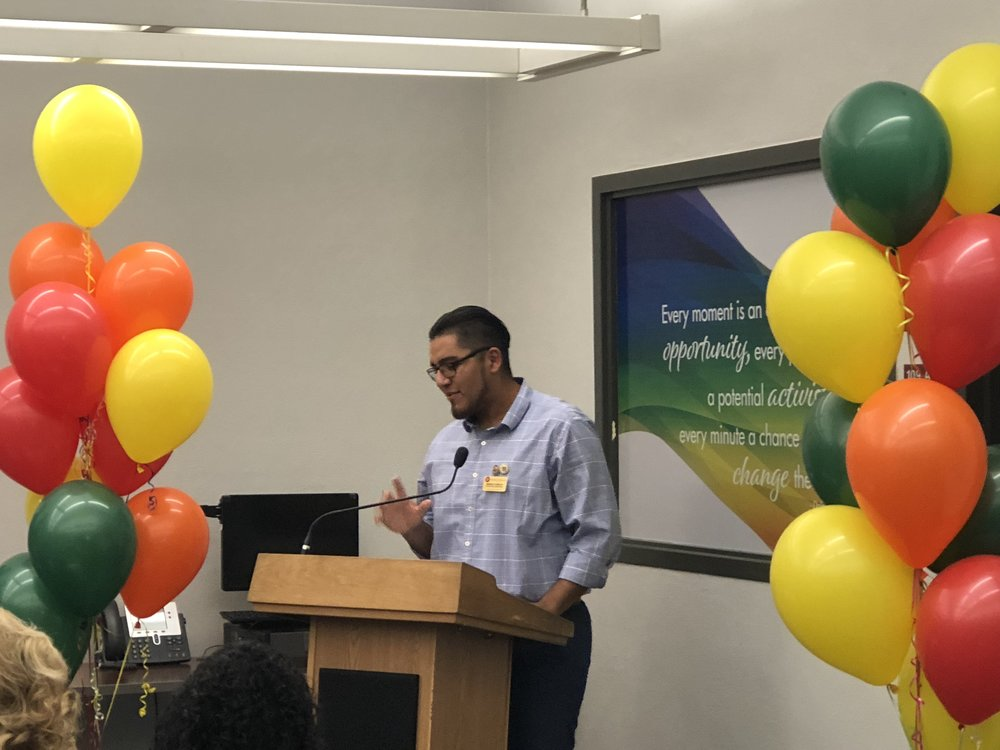 Moises Rosales, President of the Chaffey College Student Government speaking at the opening of CCSJ. Photo by Hector Solorzano