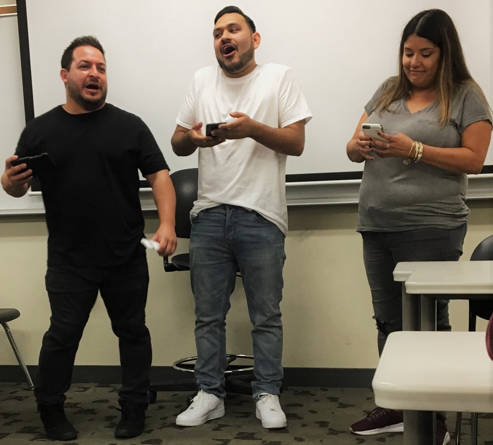 Left- Mike Cano, Center-Jesus Sepulveda, Right-Monique Flores. Photo by Kenya Staley