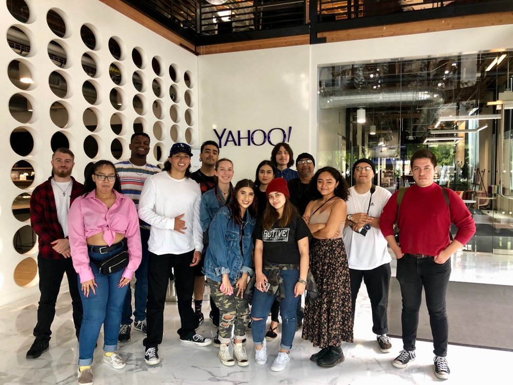 The Breeze  student journalists at Yahoo in LA. Photo Courtesy: Michelle Dowd