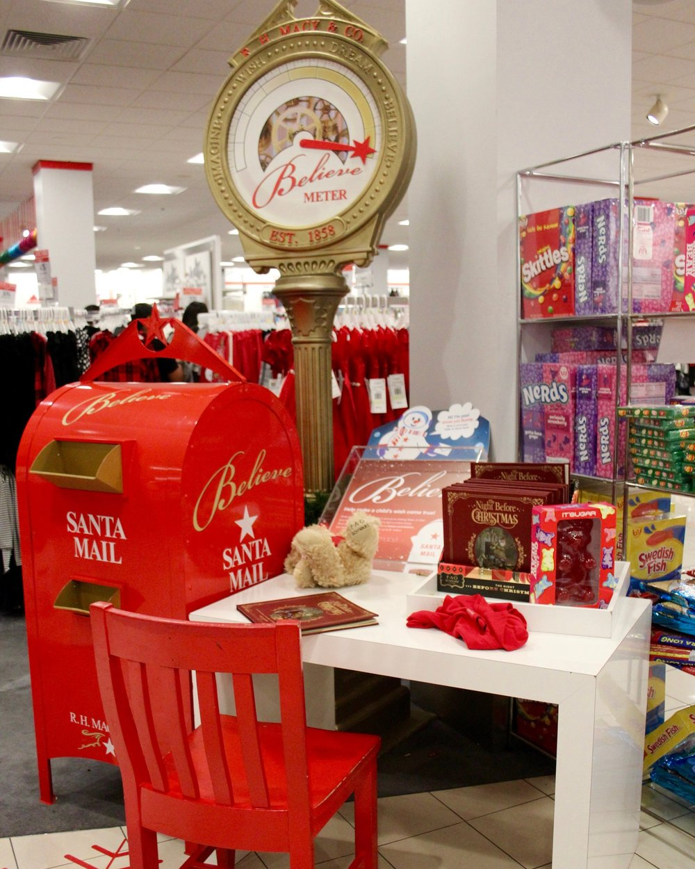 Macy's Santa Claus's Mailbox partnered with Make-A-Wish encourages children to write a letter to the North Pole. Photo by Paris Barraza