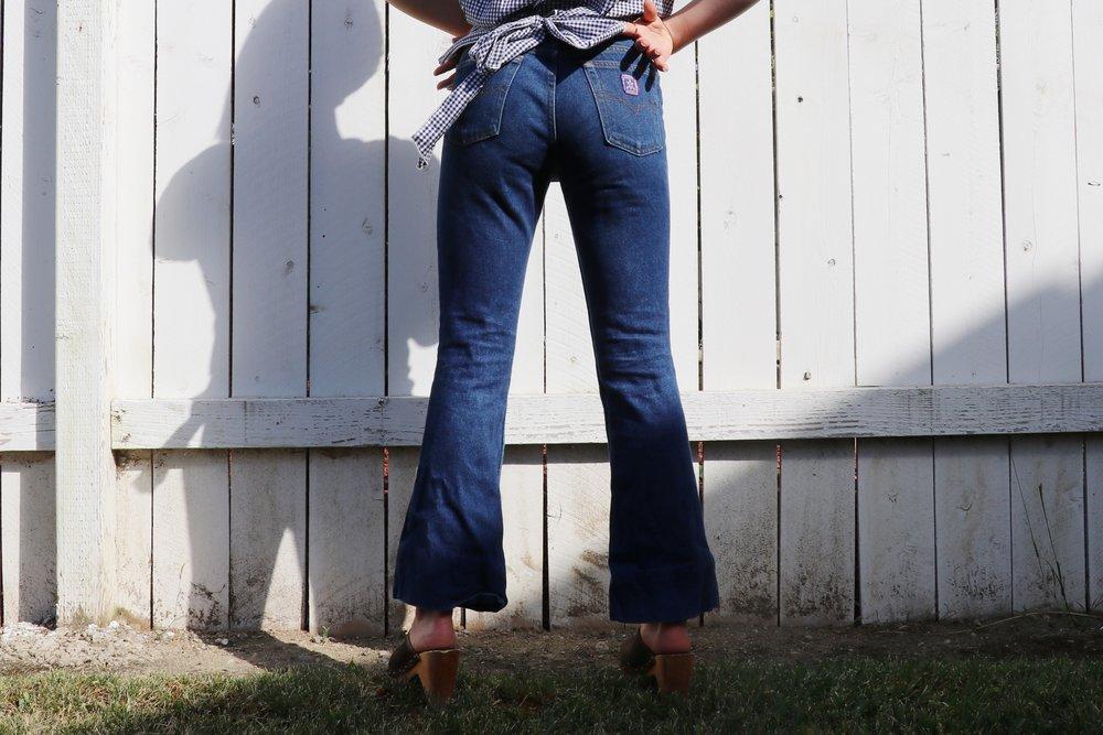 Chaffey College Alumni Sydney Vargas shows off her own unique jean style. Photo by Ciara De Alba.