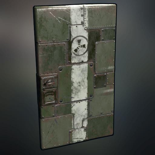 Solid Plate Metal Door (Green) & xtab\u0027s Rust Skin Pix \u2014 xtab