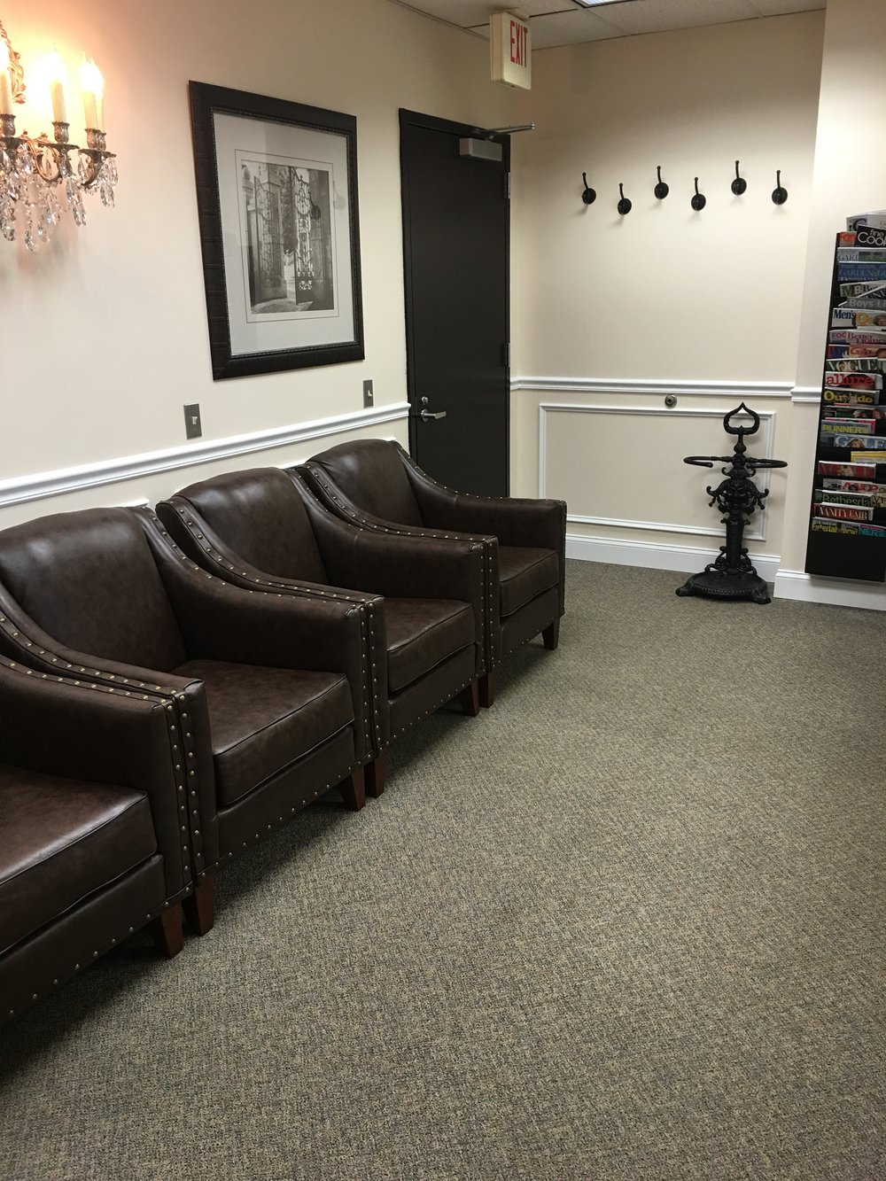 Our waiting room is comfortable and spacious.