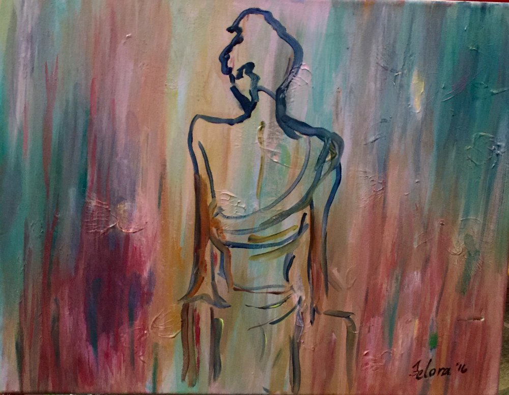 """Looking out   Size: 20"""" x 16"""""""