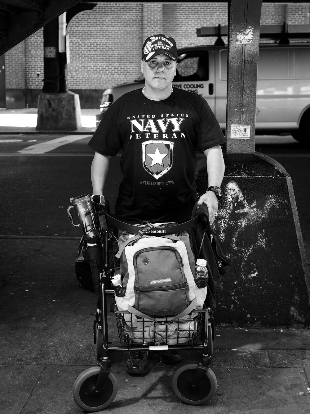 """J"" A Homeless Veteran of New York City - Bushwick 2017"