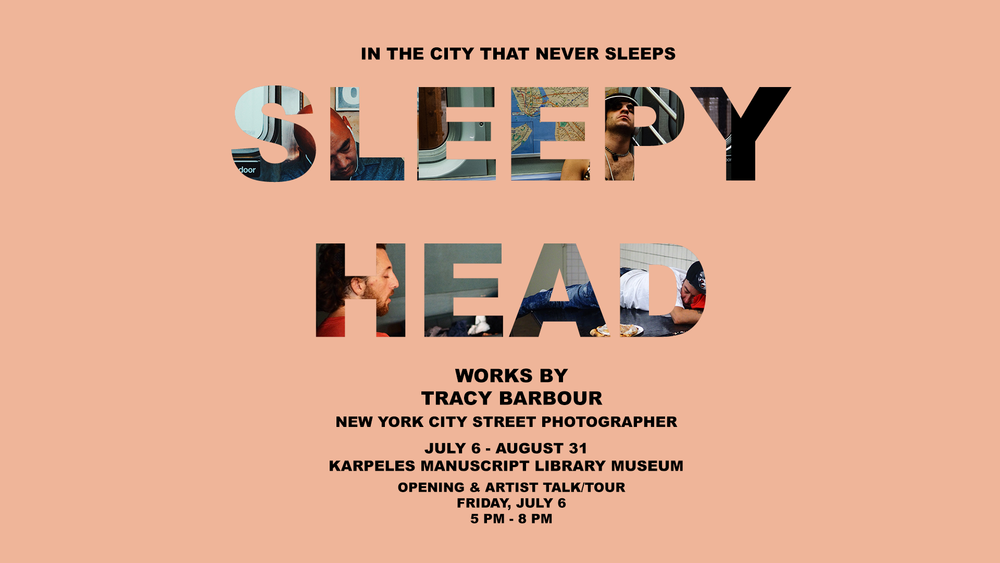 The Sleephead exhibit by Tracy Barbour on display till August 31st at the Karpeles Manuscript Library Museum in Jacksonville, Florida.