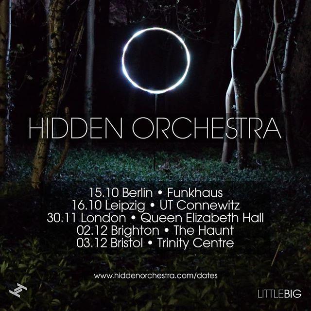 Autumn / winter live AV shows...! https://bands.us/ahlndr #hiddenorchestra