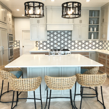Kitchen Pendant Love - A pair in a custom one tier style. So good!