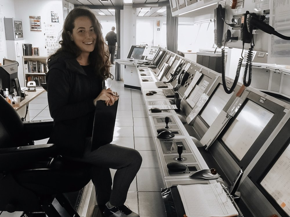 Jacqueline sailing as DPO on board an oil rig