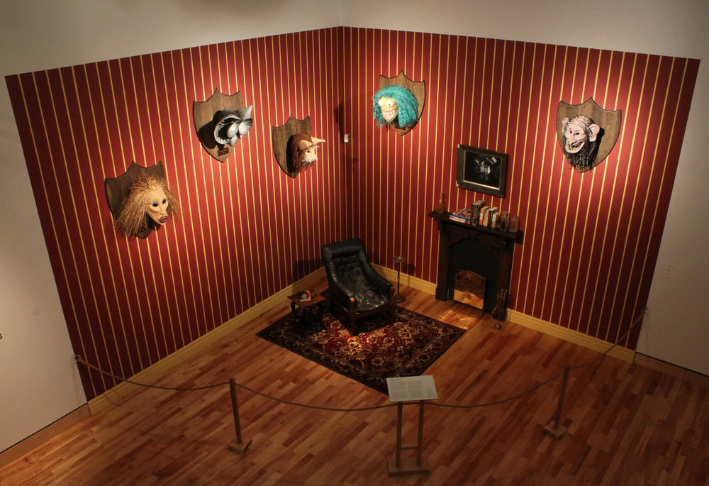Kyle Bustin,  Digital Beasts Installation , Mixed Media, The Rooms Provincial Gallery, St. John's, NL, 2014, 14'x14'